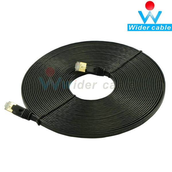 5m High Speed 10Gbps Cat7 STP RJ45 Network Flat LAN Cable Internet Network Cable With Gold Plated Connector(China (Mainland))