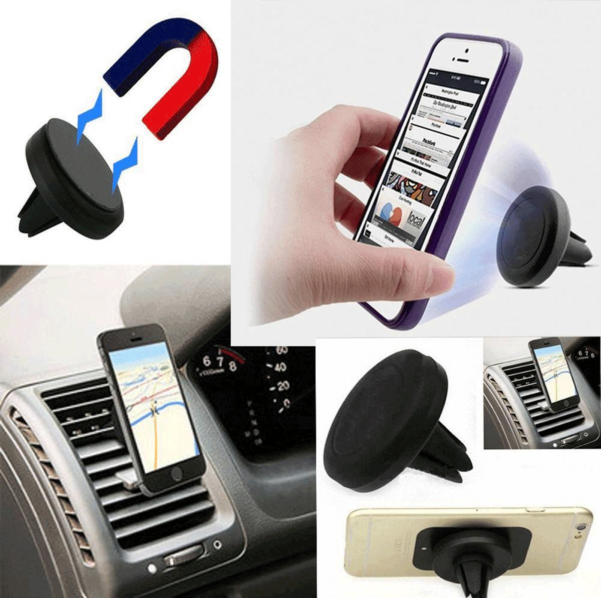 DHL 100 PCS Magnet Car Cell Mobile Smart Phone Holder Mini Air Vent Mount Handfree Dashboard Magnetic Metal For Cellphone(China (Mainland))