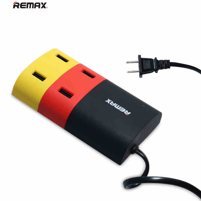 REMAX 4 Ports USB Hub EU US Plug Travel Charger Extension Cable for Smart Phones for iPad Tablet PC MP3 Desktop Adaptor(China (Mainland))
