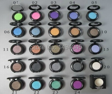 wholesale - Free Shipping! new high quality Brand MC Makeup 1.5g single eyeshadow pigment 6pcs/lot( Send mixed colors )(China (Mainland))