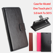 Buy Cellphone Leather Case Alcatel One Touch Pixi 3 5.0 inch OT 5015 / OneTouch Pixi3 OT5015 Flip Cover Case mobile Phone shell CO.,LTD) for $5.81 in AliExpress store