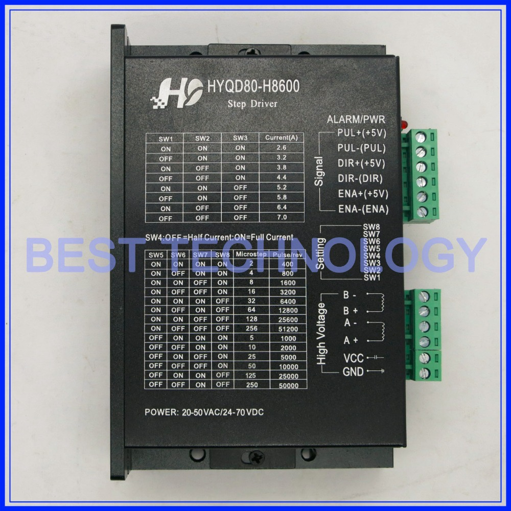 Stepper Motor Driver H8600 7a 24v 70v Dc Microstep 256 For