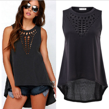 Sexy Women Vintage Hollow Out Tanks Top Sleeveless Loose Vest Tops Women Casual Shirt FFF192(China (Mainland))