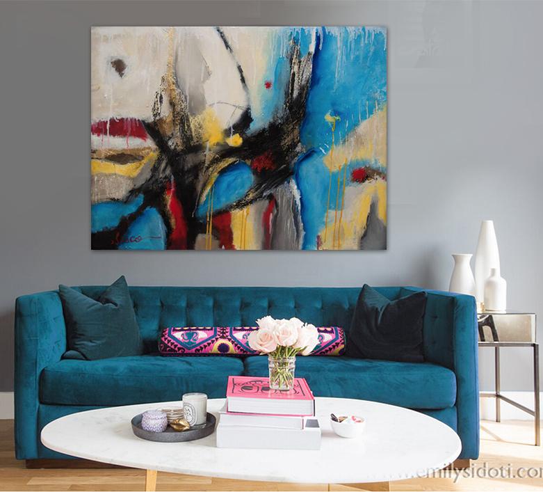 Moderne flux promotion achetez des moderne flux for Peinture a lhuile couleur argent