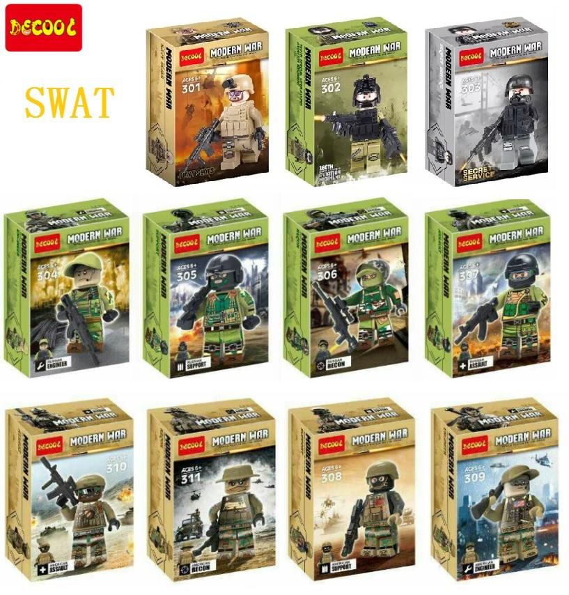 Decool 11pcs soldiers Building Block Sets Super Heroes Avengers Minifigures CS Modern War Army Military Bricks Mini Figures Toys(China (Mainland))
