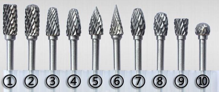 Buy new 10pc 1 8 shank tungsten carbide - Fresas para dremel ...
