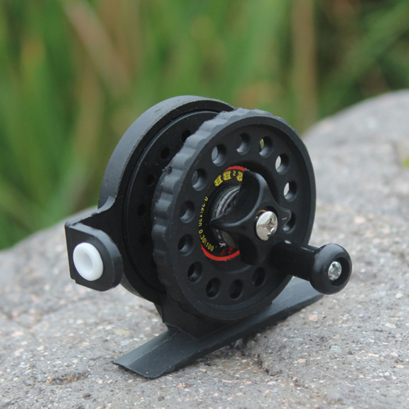 Free shipping fishing reel special mini reel wheel rotation round ice fishing gear(China (Mainland))