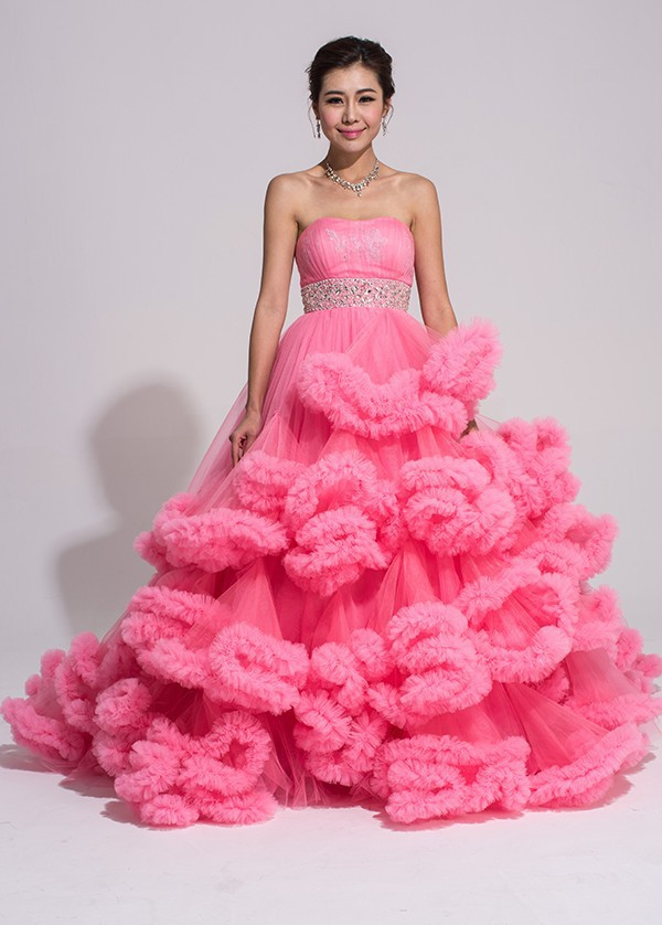 2015 specialty custom made colour dress for dance of cloud for Best wedding dresses for dancing