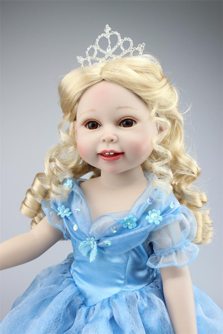 NPK 18 inch vinyl princess American Girl Dolls baby reborn Hobbies Baby Alive Doll For Girls Toys boneca reborn