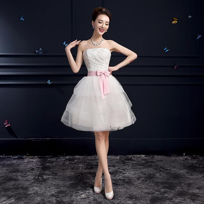girl robe princess simple bridal girl dress short tulle lace up bridesmaid dresses ball gowns under 100 free shipping B3184(China (Mainland))