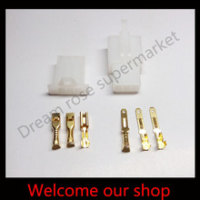 Electric bike/ Car/ RC/ RV 2.8mm 3 pin connector male female Plug for car free shipping 20set(China (Mainland))