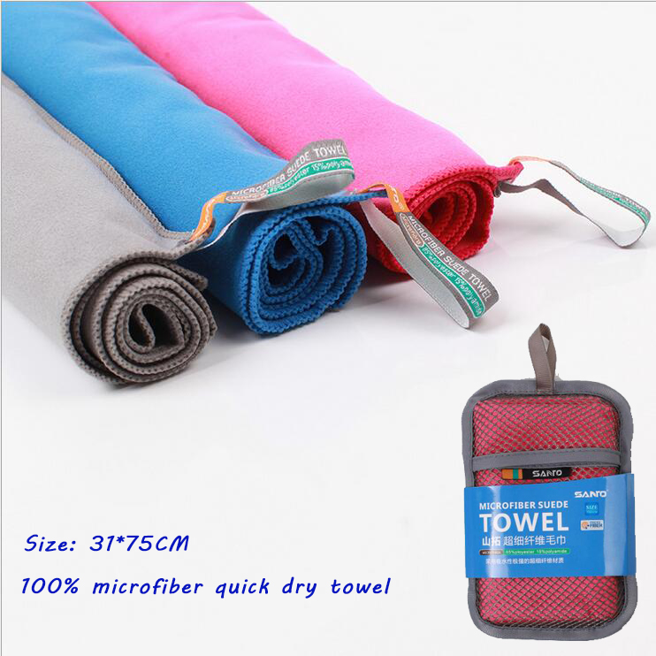 SANTO Microfiber COOLMAX Quick Dying Towel Absorbent Portable Towel For Outdoor Sports Swimming Business Travel(China (Mainland))