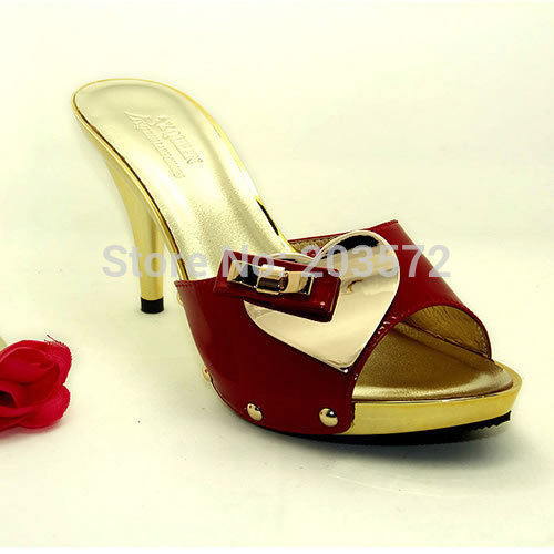 2015 [Y.QUEEN] fashion Gold high heels Leather Rivet shoes woman big size 37~42 v777-2 - suiwen liu's store