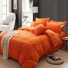 #A1 Skin color lattice bedding sets simple hotel style spring and autumn plain bed sheet quilt duvet cover sets(China (Mainland))