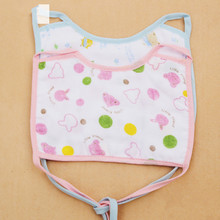 Real 12 layer thickness Gauze baby bib Saliva dripping baby bib 12 layer of pure cotton cloth soft water absorption(China (Mainland))