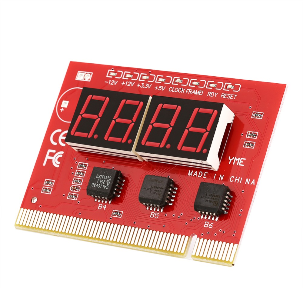 Computer Analysis PCI POST Card LCD Display Motherboard LED 4 Digit Diagnostic Test PC Analyzer(China (Mainland))