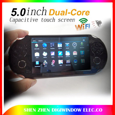 "8GB video games 5.0"" touch screen Dual-core game console player android4.2.2 wireless WIFI tablet pc+HDMI 1080P 2 cameras(China (Mainland))"