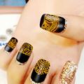24Sheets 4 Mixed Color 3D Lace Design Nail Art Stickers Nail Art Stamping Plates Nail Decorations