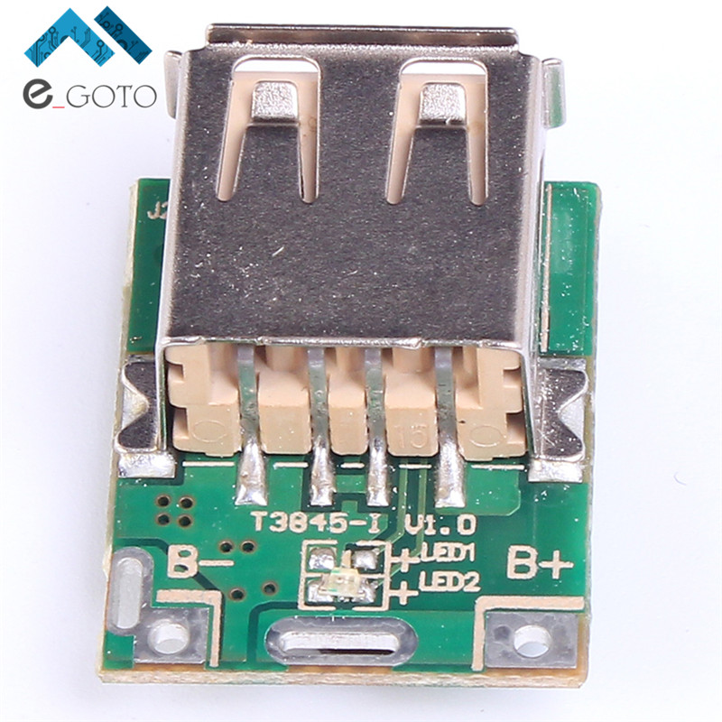 5pcs 5V Step-Up Power Module Lithium Battery Charging Protection Board Boost Converter LED Display USB DIY Charger 134N3P