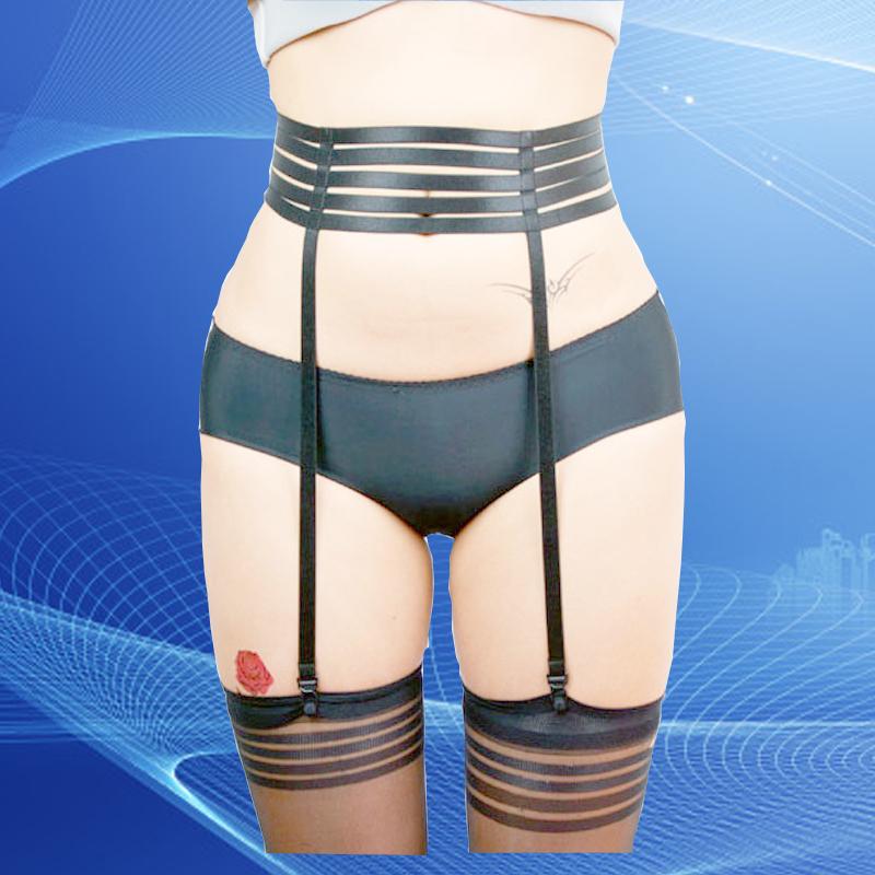 Elastic Belt wholesale Cage Bondage Goth sexy garter stockings pastel goth wedding garter plus size thigh harness(China (Mainland))