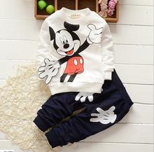 TZ363,Christmas red Infants baby clothing boys girls tracksuits cartoon shirt+ pants 2pcs kids boy clothes Children clothing set(China (Mainland))