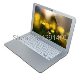 Freeshipping Fashion mini laptop computer super thin 13.3 inch notebook pc with wifi webcam 1G DDR3 Ram 8GB HDD netbook(China (Mainland))