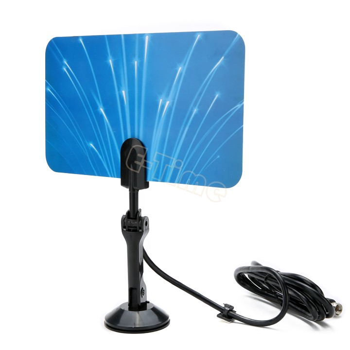 Digital Indoor TV Antenna HDTV DTV HD TV Antenna VHF UHF Flat Design High Gain TV Antanna receiver free shipping 25(China (Mainland))