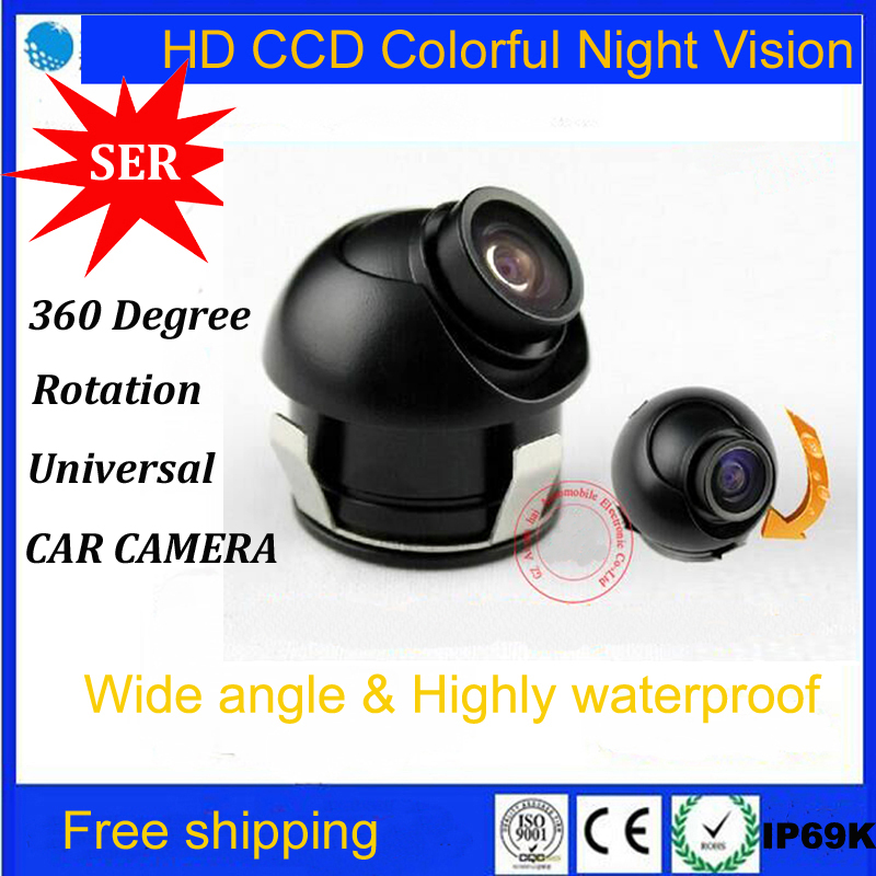 Factory Promotion SONY CCD HD night vision car rear view camera side view rear monitor for 360 degree Rotation Universal camera(China (Mainland))