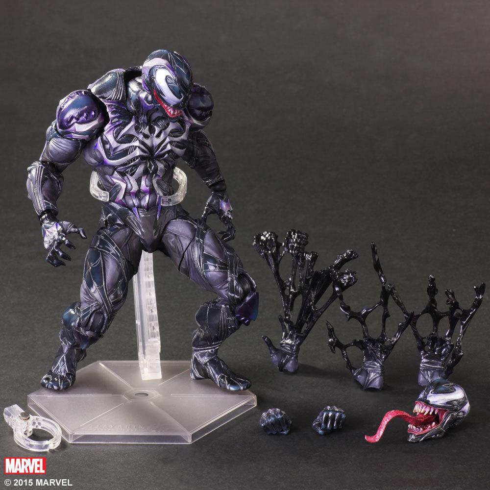 SQUARE ENIX Play Arts KAI Spiderman Venom Marvel Universe Variant Action Figure Collection Toy 26cm KT1699(China (Mainland))