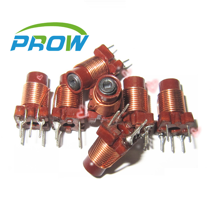 Prow Adjustable high-frequency winding inductance inductor core regulated trimming inductor 12T 0.6uh-1.7uh(China (Mainland))