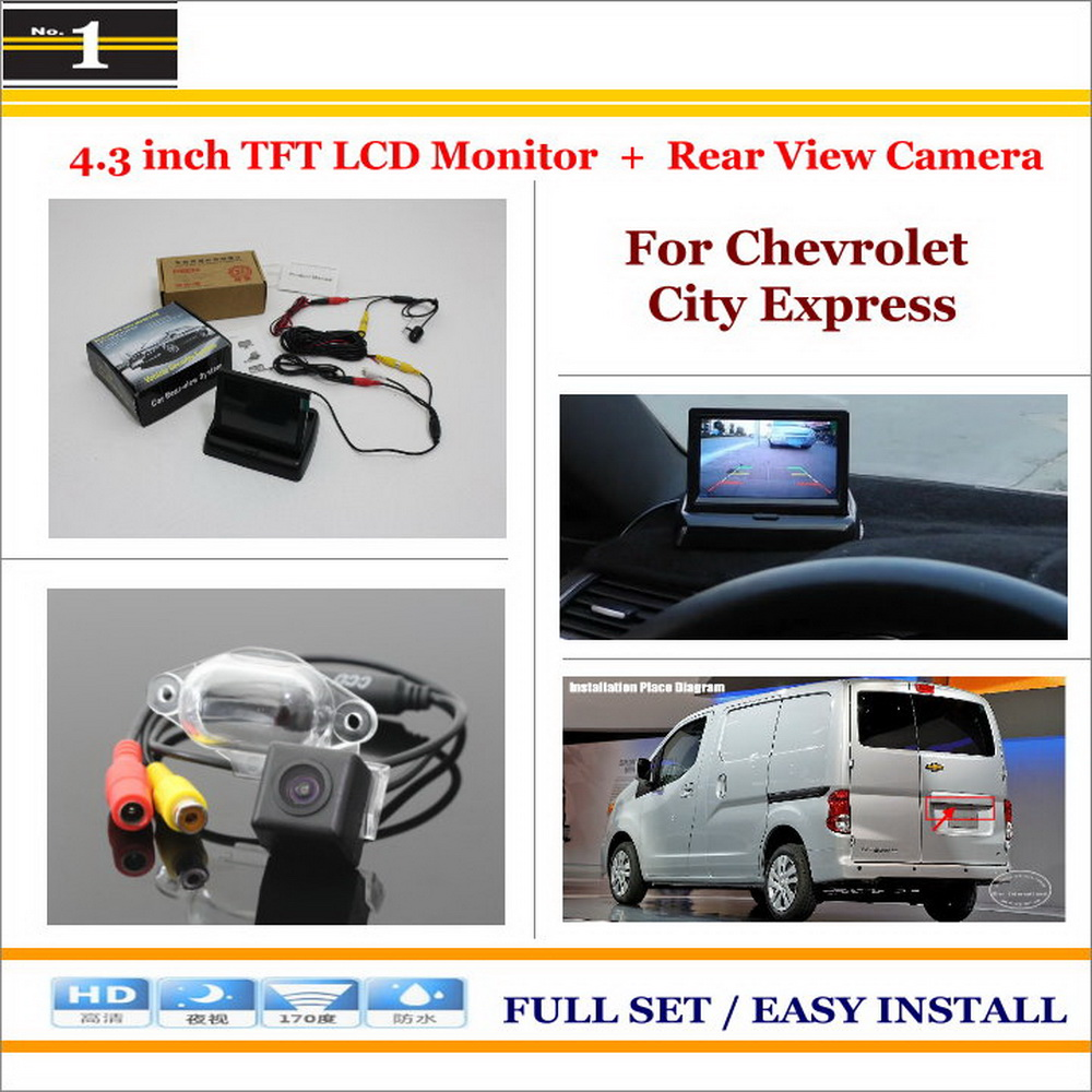 Car Reverse Backup Rear Camera + 4.3 TFT LCD Screen Monitor = 2 in 1 Rearview Parking System - For Chevrolet City Express<br><br>Aliexpress