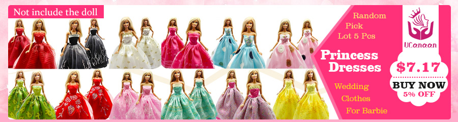 UCanaan Randomly Choose10 Units Males Cool Informal Go well with Garments Prince Style Put on Outfit For Barbie Buddy Ken Doll Finest Present Toys