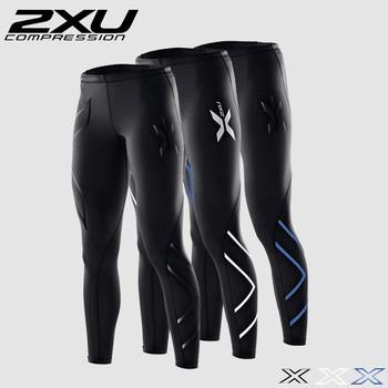 2XU Men Compression Tight Long Pants Sports Black Trousers Jogging Trousers Emoji Joggers Emoji Slim Fit Mallas Hombre Running