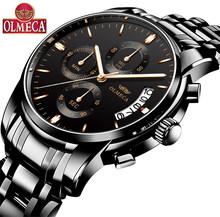 OLMECA Relogio Masculino hommes montre de luxe sport montres 3ATM étanche horloge chronographe montre-bracelet en acier inoxydable bande Saat(China)