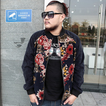 Free shipping ! Autumn winter men's clothing fashion plus size plus size personality fancy jacket outerwear / XL-6XL(China (Mainland))
