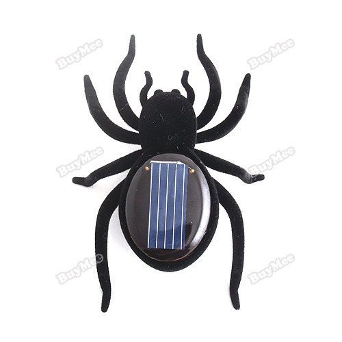 trad new fashion brand! Educational Solar Powered Black Spider Toy Gadget Kids hottest(China (Mainland))