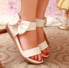 Buy Size 34~40 New 2017 Split Leather Summer Student Sandals Peep-Toe Flat Shoes Roman Sandals Shoes Woman Sandalias Mujer Sandalias for $25.68 in AliExpress store
