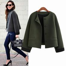 2016 Autumn And Winter Women Jacket Casual Long Sleeve O-neck Loose Woolen Coat Fashion Women Basic Coats