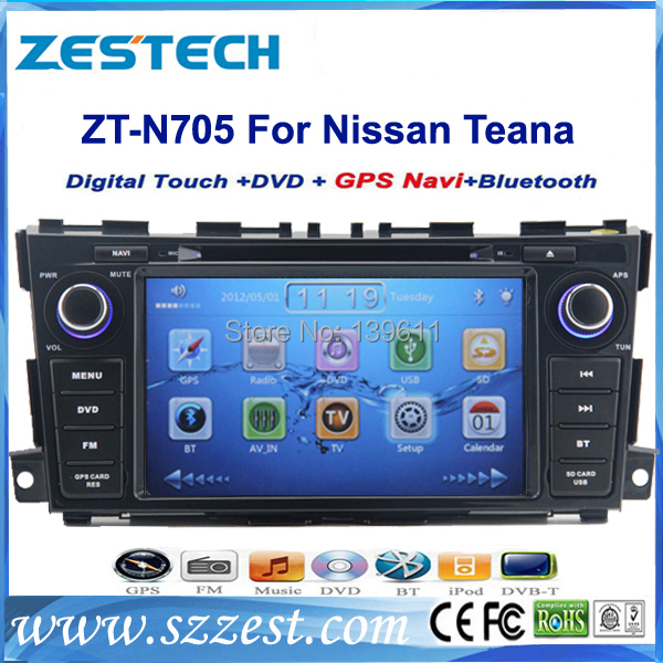 Free shipping! ZESTECH China Factory OEM 2 Din Touch screen Car Gps Navigation for nissan teana 2013 2014(China (Mainland))