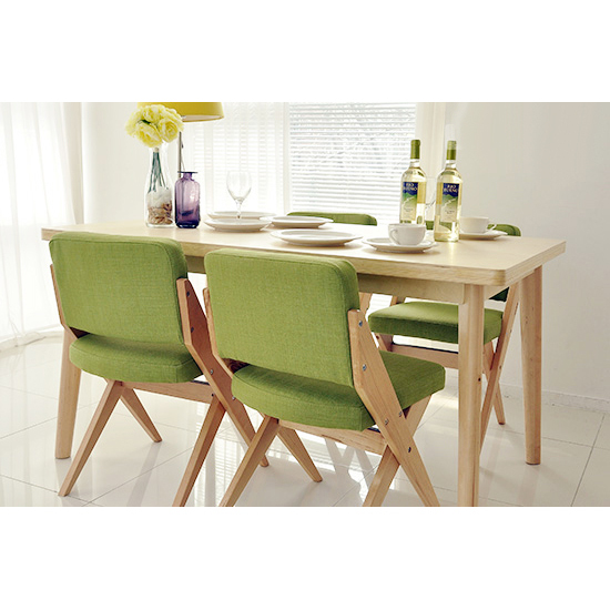 Dining Table Furniture Ensemble Nordic Birch Wood Stylish Modern Small