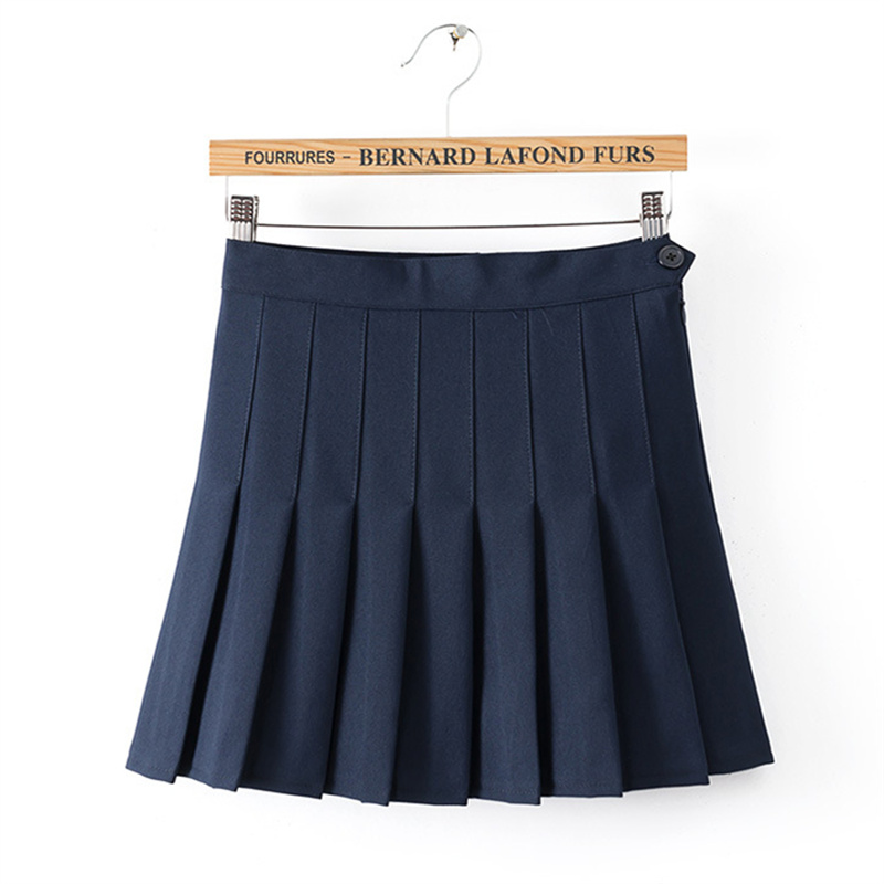 9 Colors 2016 New Europe and American Apparel Fashion Women Skirts High Waist Pleated Sexy Skirt WY560(China (Mainland))