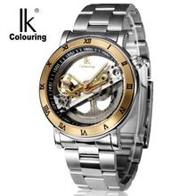 Original IK Tourbillon Mechanical Wrist watches men luxury brand business skeleton automatic men self wind Top