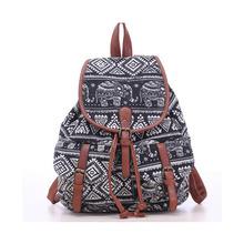 Hot Selling Women's Vintage Canvas Backpack National Ethnic Backpacks Girl Rucksack School Bag Bookbags Shoulder travel bag 524t(China (Mainland))