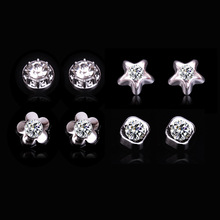 2015 New Hot No Holes Earring Fashion Mens Stud Earring Wholesale Free Shipping (China (Mainland))