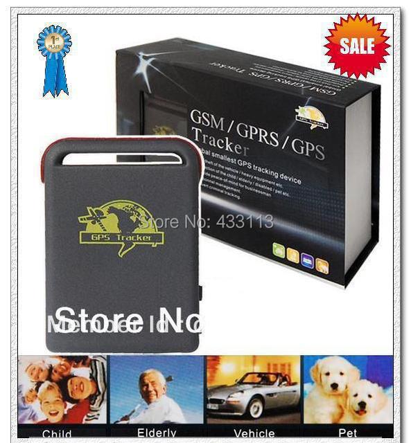 SPY Real-time Mini GPS Tracker GPS/GSM/GPRS Vehicle Car Tracking system TK102B + TF card slot