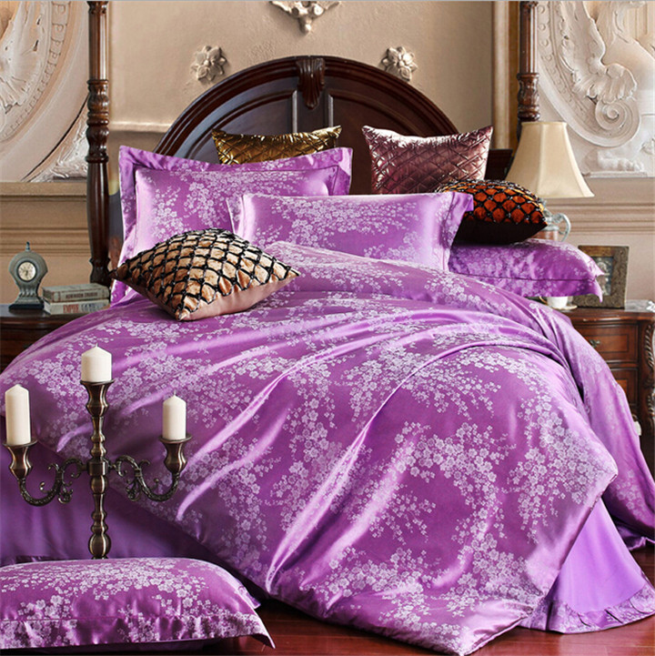 Bed sheet pillowcase 100 cotton bedding set in bedding sets from home