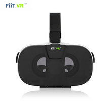 Fiit VR Virtual Reality 3D Smart Glasses Headset Oculus Rift Google Cardboard Head Mount Video Helmet for 4.0′-6.5′ phone