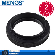 Buy MENGS 2Pcs per pack T2-AF Lens Mount Adapter Ring Alloy Aluminum Material T2 T Lens AF Camera Body, 14150000701 for $5.99 in AliExpress store