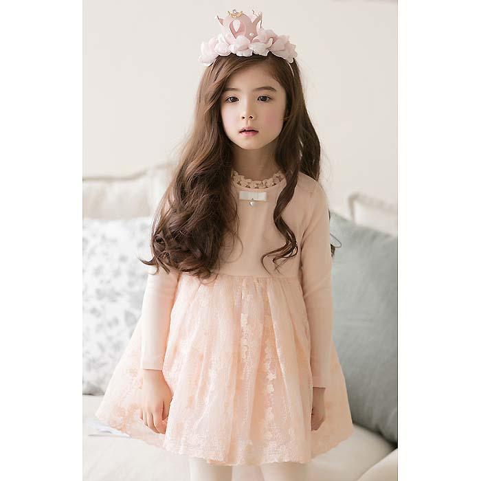 NEW Kids Girl Dress fashion Lovely ball gown girl dress long sleeve kid autumn dress cheap girls apparel(China (Mainland))