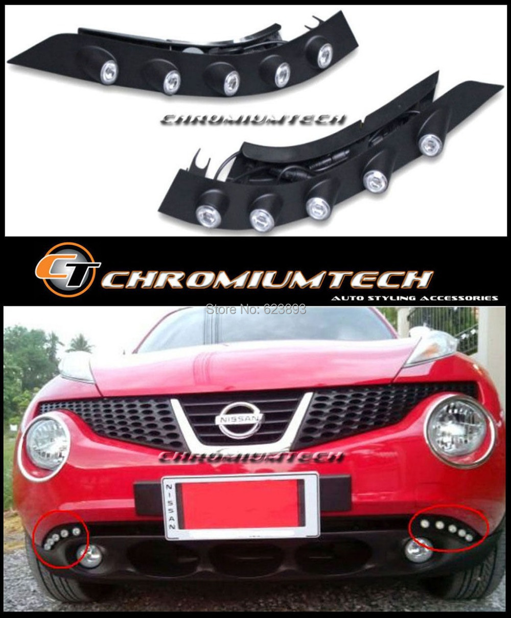 Free shipping,2x Car Special Daytime Running Lights DRL Led E Marked Brand New With dimming function For 2011-2013 Nissan Juke(China (Mainland))